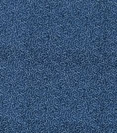 "Keepsake Calico® Cotton Fabric 43""-Blue Depths Scroll"