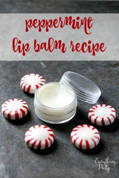 Homemade Peppermint Lip Balm Recipe via www.yourbeautyblog.com