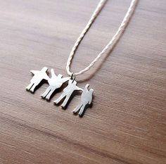 beatles silver help necklace