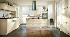 Alba kitchen range - clean cut lines and strong shapes