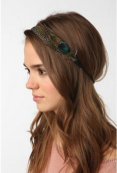 UrbanOutfitters.com > Feather & Suede Headwrap