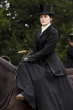 Lady Mary Crawley Downton Abbey Riding Habit early 1900s edwardian Michelle Dockery
