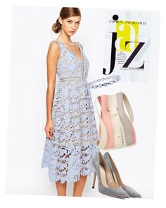 """""""dress"""" by masayuki4499 ❤ liked on Polyvore featuring self-portrait, Gianvito Rossi, 10 Crosby Derek Lam and Chanel"""