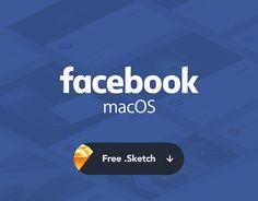 """查看此 @Behance 项目:""""Facebook OS X ~ Freebies…"""