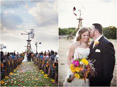 Lubbok Wind Power Center Wedding