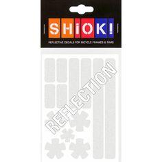 #shiok! #becomevisible! #retro-reflective #cycling #outdoor #sticker #bike I 9.95 EUR (incl. VAT) Reflection, Cycling, Stripes, Bike, Stickers, Retro, Frame, Outdoor, Bicycle