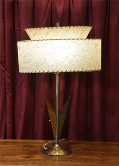 Vintage Two Tier Parchment Table Lamp