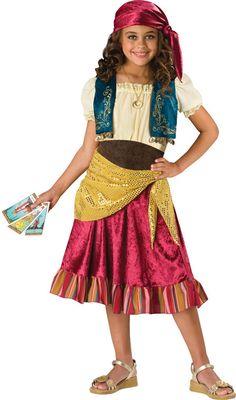 girl's costume: gypsy (ic) | large