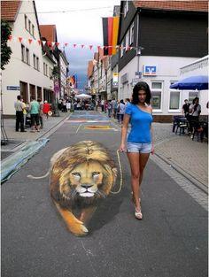 Impresionante arte callejero