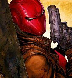 Red Hood in Deathstroke - Jason Todd Dc Universe, Batman Universe, Batman Red Hood, Batman Robin, Gotham Batman, Batman Art, Dc Comics Characters, Dc Comics Art, Fictional Characters