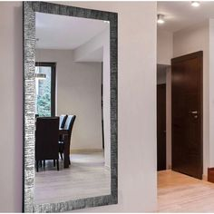 Bloomsbury Market Ophelia Full Length Mirror Color: H x W Dining Room Wall Decor, Living Room Mirrors, Entryway Decor, Bedroom Decor, Master Bedroom, Hall Mirrors, Floor Mirrors, Freestanding Mirrors, Home Building Design