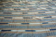 Africa | Indigo cotton ikat weaving  from Yoruba people. Nigeria
