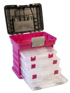 Amazon.com: Creative Options 1363-85 Grab N' Go Rack System with Two No.2-3630 Deep Pro-Latch Organizers and One No.2-3650 Organizer, Magent...