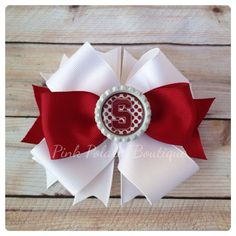 Cardinal and White Boutique Bow  on Etsy, $9.50 stanford cardinal, stanford university, stanford, cardinal