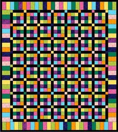 Bold and Beautiful Lap Quilt Pattern
