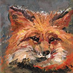 Fox painting portrait Fox acrylic on canvas by VerbruggeWatercolor