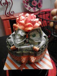 Money Cash Work From Home Jobs - Money Gift Ideas Jar - - - Money Ilustration Kids - Creative Money Gifts, Cool Gifts, Money Gifting, Gift Money, Money Lei, Money Birthday Cake, Birthday Gifts, 21st Birthday, Money Creation