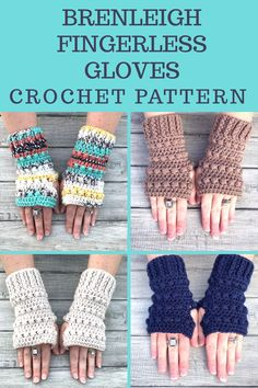Fingerless Gloves Crochet Pattern. This is a fun and quick crochet project. Your color options are endless.