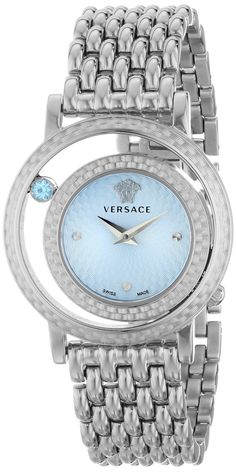 Versace Women's Venus Stainless Steel Bracelet Watch with Blue Dial Jewelry Accessories, Fashion Accessories, Fashion Jewelry, Luxury Watches, Versace Watches, Beautiful Watches, Stainless Steel Bracelet, Cool Watches, Turquoise
