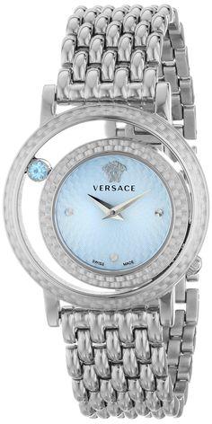 Versace Women's VDA030014 Venus Analog Display Quartz Silver Watch