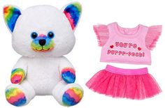 Build a Bear Rainbow Smiles Kitty Pink Outfit 7 in. Buddies Stuffed Toy Animal Set An Adorable Gift Idea! In Stock Now at http://www.bonanza.com/listings/Build-a-Bear-Rainbow-Smiles-Kitty-Pink-Outfit-7-in-Buddies-Stuffed-Toy-Animal/290715686