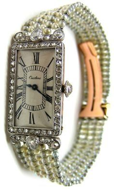 An Art Deco Cartier Watch.