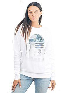 Womens Junk Food Brand Star Wars R2D2 Fleece Pullover Sweatshirt