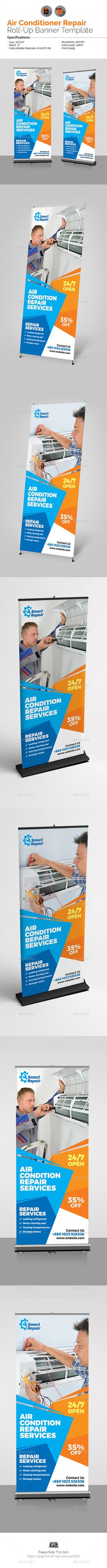 Beauty Salon & Spa - Roll-Up Banner Template Vector EPS, AI ...