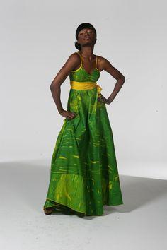 the Unique Green Envy maxi dress (UK Size 8 10 12 14)