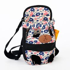 Pet Supplies Fashion Red Color Carrier Travel Backpack Shoulder Puppy Breathable Pets Dogs Bags-Colorful-(L)-Intl | Lazada Singapore