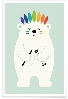 Be Brave Polar en Affiche premium par Andy Westface | JUNIQE