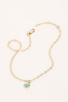 14k Joey Anklet | Free People UK Body Jewellery, Anklets, Turquoise Necklace, Jewelry Accessories, Free People, Charmed, Stone, Gold, Delicate