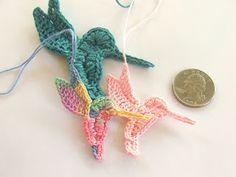 Susan's Hippie Crochet: Darling Crocheted Hummingbirds, I'm cross-eyed!