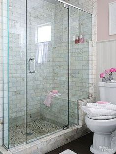 Absolutely Stunning Walk In Showers For Small Baths. Bathroom Remodel ...