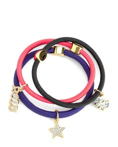 SET OF 3 CHARMY ELASTICS - Juicy Couture Juicy Couture 36e0b21a3484