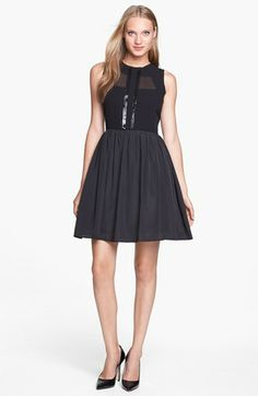Jessica Simpson Illusion Bodice Fit & Flare Dress available at #Nordstrom