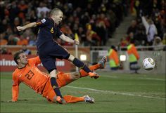 Final,Andres Iniesta scores the winning goal in 116 min.