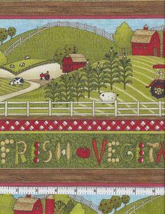Farmland, South Sea Imports Fabric, Farm by MaddysFabricStash for $4.80
