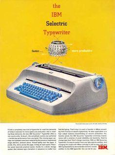 IBM Retro Yellow Typewriter
