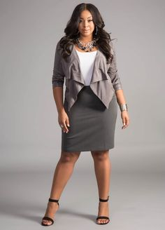 The Curvy Fashionista   Plus Size Suiting and Wear to Work Options with Ashley Stewart: Grey Matters
