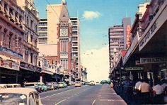 Barrack Street, 1960 Perth Western Australia, People Of The World, Back In The Day, Old Photos, Maps, Times Square, Nostalgia, The Past, Childhood