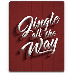 "Click Wall Art 'Jingle all the Way' Textual Art on Plaque Size: 14"" H x 11"" W x 1"" D"