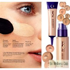 The ONE IlluSkin Concealer High performance concealer with HaloLight Technology™ that diffuses light to enhance radiance and minimise imperfections. Light, no greasy formula. Conceal Blemishes Brighten around nose and corners of eyes with #ORIFLAME Concealer.