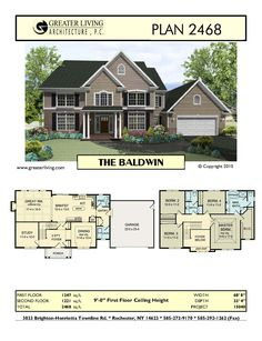 The Baldwin - basic floor plan.  Add wrap around front porch