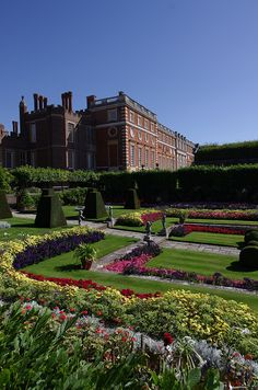 Hampton Court Palace Gardens ~ over 60 acres of beautiful gardens that run down to the River Thames, featuring fountains, flowering bulbs and parkland, London, England