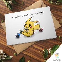 POKEMON GREETING CARD  Pikachu Type | Pokemon Go⎥Pun⎥Couple⎥ Gift ⎥Valentine ⎥ 90s Present⎥Love⎥Naughty⎥ Nintendo⎥ Boyfriend ⎥Girlfriend⎥Birthday⎥ Anniversary ⎥Naughty Dirty | Anime Love Card | Gaming Nerd Cards⎥Geek⎥Pokemon Art ⎥Design⎥Pocket Monsters ⎥Handmade⎥Paper Goods |