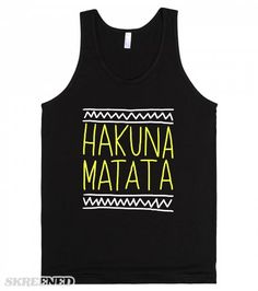 Hakuna Matata (Drawn) | Hakuna Matata! It means no worries #Skreened