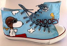 Snoopy and Woodstock Shoes  -These will be made to order on any size shoe, please get in contact with us if you could not find your size in our shop.