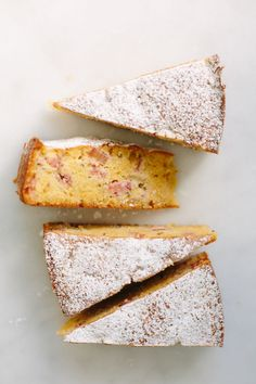 Flourless rhubarb + rosemary cake – My Darling Lemon Thyme Gluten Free Baking, Gluten Free Desserts, Just Desserts, Dessert Recipes, Rhubarb Recipes Gluten Free, Slow Cooker Desserts, Flourless Cake, Rhubarb Cake, Sweet Recipes