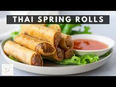fo Thai Spring Rolls, Fried Spring Rolls, Shrimp Spring Rolls, Popular Appetizers, Great Appetizers, Appetizer Recipes, Spring Roll Filling, Chicken Noodles, Stuffed Mushrooms